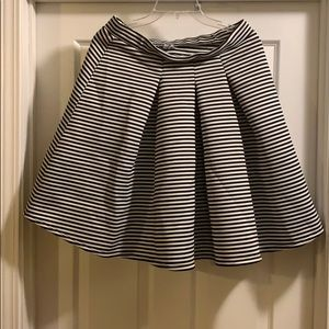 Charlotte Russe Stripped Skirt with pleats L1